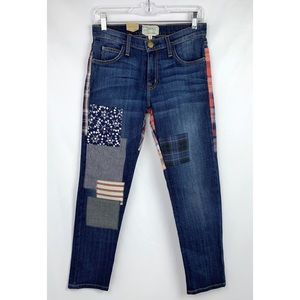 Current/Elliott The Fling Patchwork Jeans - NWT